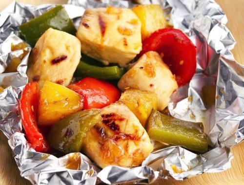 Kylling og grønnsaker i folie